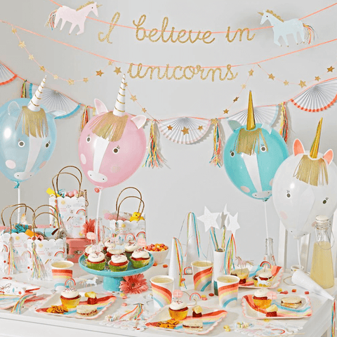 Meri Meri / Unicorn & Rainbow bordjes (wegwerpservies) - Paper Plates - Oh My Dear
