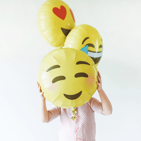 Heart Eyes Emoji folieballon - 48cm (Smiley ballon) - Oh My Dear