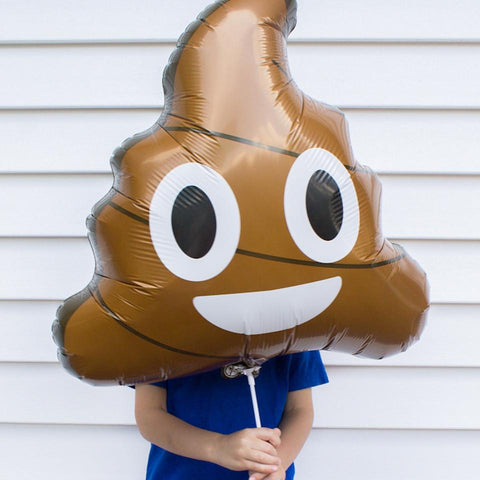 PooP Emoji folieballon - 61cm (Smiley ballon) - Oh My Dear