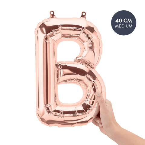 rose gold letterballon letter B