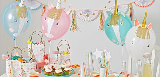 Rainbow and unicorn party theme