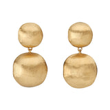 Africa 18ct yellow gold drop earrings by Marco Bicego