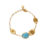 Lunaria 18ct yellow gold and aquamarine bracelet by Marco Bicego