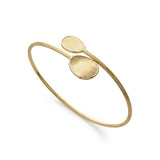 Lunaria 18ct yellow gold bangle by Marco Bicego