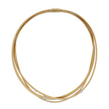 Masai 18ct yellow gold and diamond three row necklace by Marco Bicego