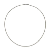 Masai 18ct white gold and diamond single row necklace by Marco Bicego
