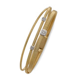 Masai 18ct yellow gold and diamond three row bracelet by Marco Bicego