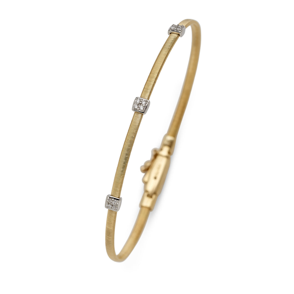 Masai 18ct yellow gold and diamond single row bracelet by Marco Bicego