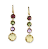 Jaipur mixed gemstone and yellow gold drop earrings by Marco Bicego