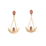 Joie de Vivre pink tourmaline earrings by Nigel Milne