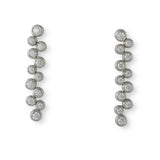Platinum and diamond Bubble earrings by Tiffany & Co.