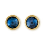 Jaipur 18ct yellow gold and London blue topaz earstuds by Marco Bicego