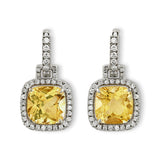 Carnival citrine & diamond earrings by Nigel Milne
