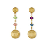 Africa Gemstone 18ct yellow gold and multi gemstone earrings by Marco Bicego