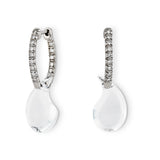 Brilliant cut diamond and white topaz earrings, Calypso by Nigel Milne