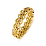 14ct yellow gold open plait design bangle