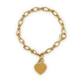 14ct yellow gold child's charm bracelet