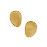 Lunaria 18ct yellow gold large single leaf earrings by Marco Bicego
