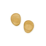 Lunaria 18ct yellow gold small single leaf earrings by Marco Bicego