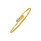 Lucia 18ct yellow gold and diamond bangle by Marco Bicego