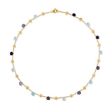 Paradise 18ct yellow gold, iolite and blue topaz necklace by Marco Bicego