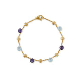 Paradise 18ct yellow gold, iolite and blue topaz bracelet by Marco Bicego