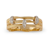 Marrakech Onde 18ct yellow gold and diamond ring by Marco Bicego