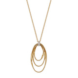 Marrakech Onde 18ct yellow gold and diamond pendant by Marco Bicego