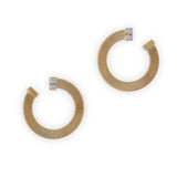Masai 18ct yellow gold and diamond earrings by Marco Bicego