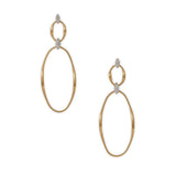 Marrakech Onde 18ct yellow gold and diamond earrings by Marco Bicego