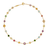 Jaipur mixed gemstone & yellow gold 43cm necklace by Marco Bicego