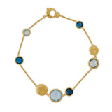 Jaipur 18ct yellow gold and blue topaz bracelet by Marco Bicego