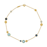 Jaipur 18ct yellow gold and blue topaz necklace by Marco Bicego