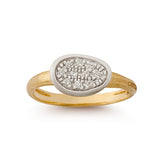 Lunaria Mini pave diamond and 18ct gold ring by Marco Bicego