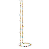 New Paradise 18ct yellow gold and multi gemstone 92cm necklace