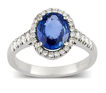 ADAGIO Sapphire and diamond cluster engagement ring