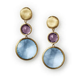 Jaipur blue topaz & amethyst earrings by Marco Bicego
