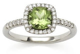 Mini Carnival peridot & diamond ring by Nigel Milne