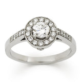 SONATA Brilliant cut diamond cluster engagement ring