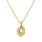 New Lily briolette diamond and 18ct yellow gold pendant by Nigel Milne