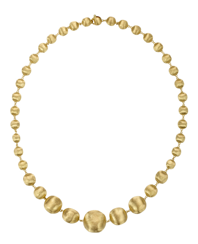 Africa 18ct yellow gold graduated necklace by Marco Bicego