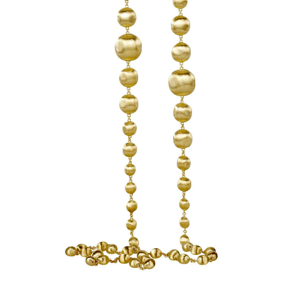 Africa 18ct yellow gold graduated 92cm necklace by Marco Bicego