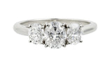VIVACE Oval diamond three stone engagement ring