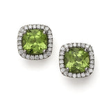 Mini Carnival peridot & diamond earrings by Nigel Milne