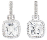 Carnival white topaz & diamond earrings by Nigel Milne