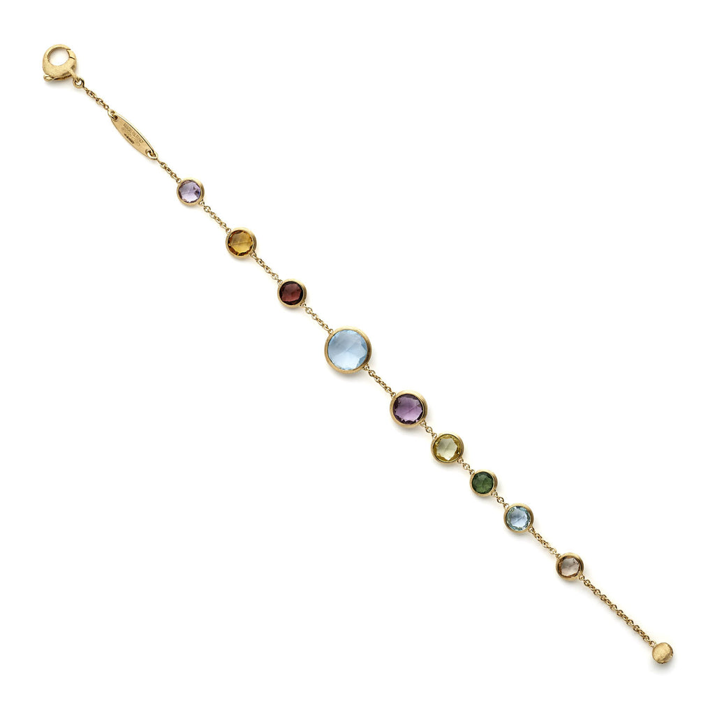Jaipur mixed gemstone and yellow gold bracelet by Marco Bicego