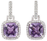 Carnival amethyst & diamond earrings by Nigel Milne