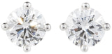Brilliant cut diamond single stone stud earrings