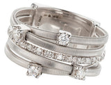 Goa five row diamond and white gold ring by Marco Bicego