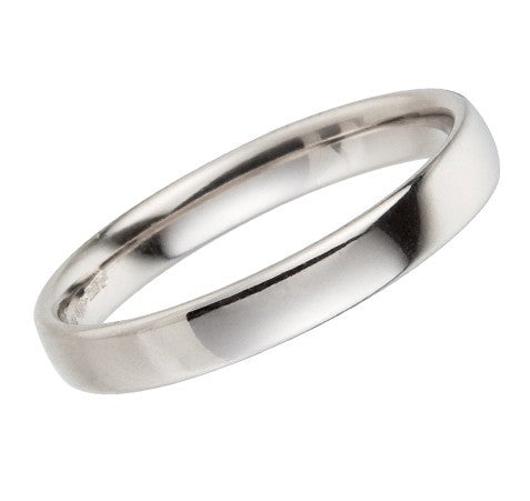 3mm platinum wedding ring